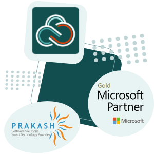 CirrsuSoft Logo with Prakash software and Microsoft partner logo