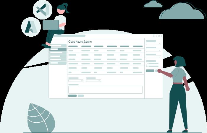 Cloud Azure System Using Microsoft Azure and visual basic code